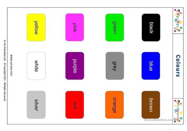 Yo-Yee Colour Flashcards