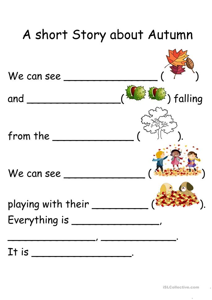A Short Story about Autumn - ESL worksheets