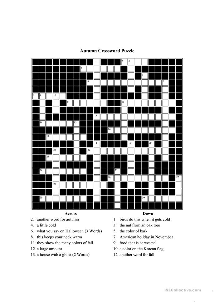 Breathtaking image pertaining to free printable themed crossword puzzles