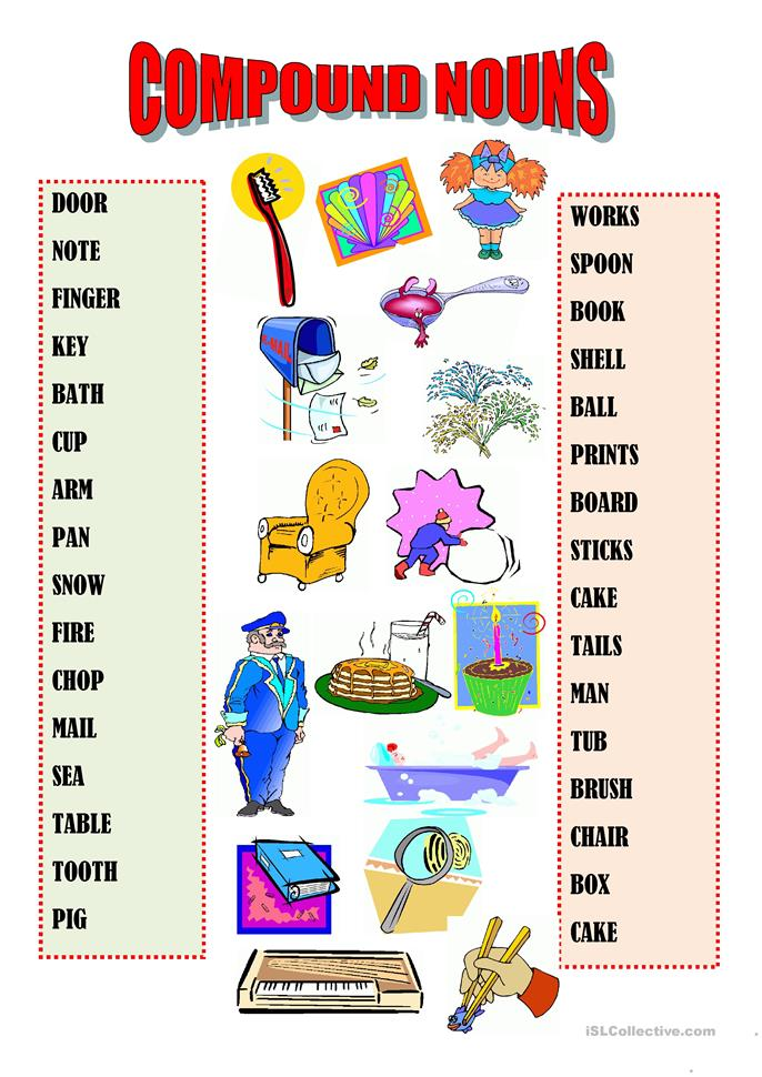 COMPOUND NOUNS worksheet - Free ESL printable worksheets made by ...