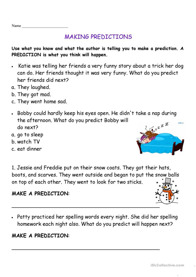 Printables Making Predictions Worksheets making predictions worksheet free esl printable worksheets made by teachers