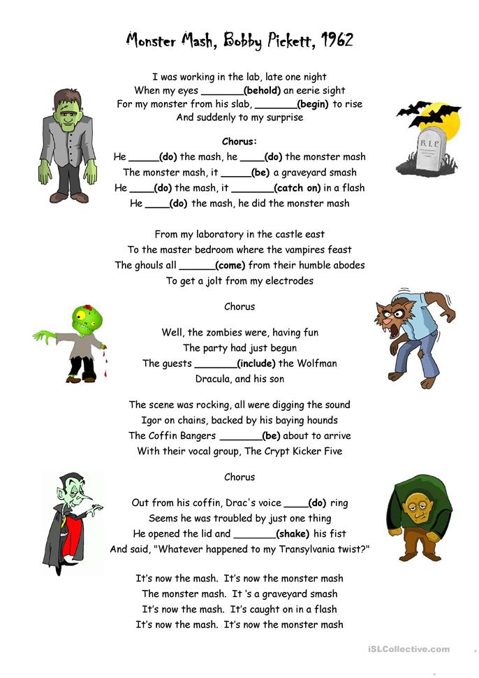 Worksheets Drama Worksheets 20 free esl drama worksheets monster mash