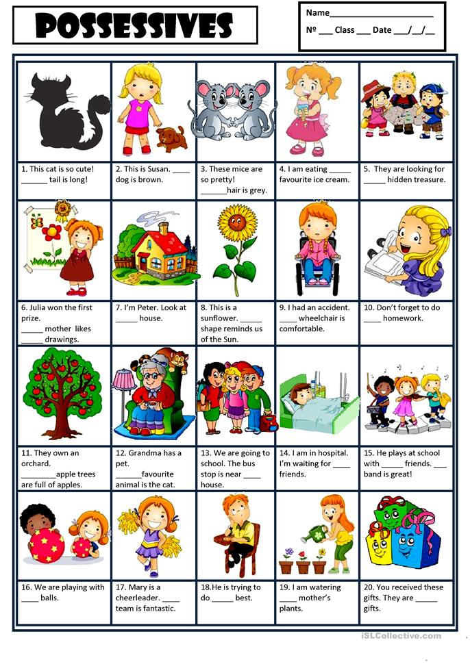 Possessives Worksheet Worksheet Amp Workbook Site