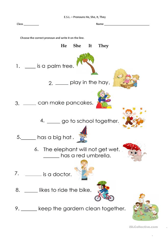 pronouns he she it they worksheet free esl printable worksheets made by teachers. Black Bedroom Furniture Sets. Home Design Ideas