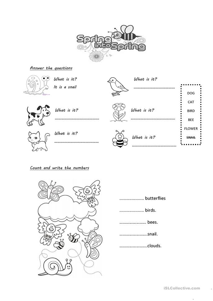 Spring English Worksheets : Spring multiple choice activity worksheet free esl