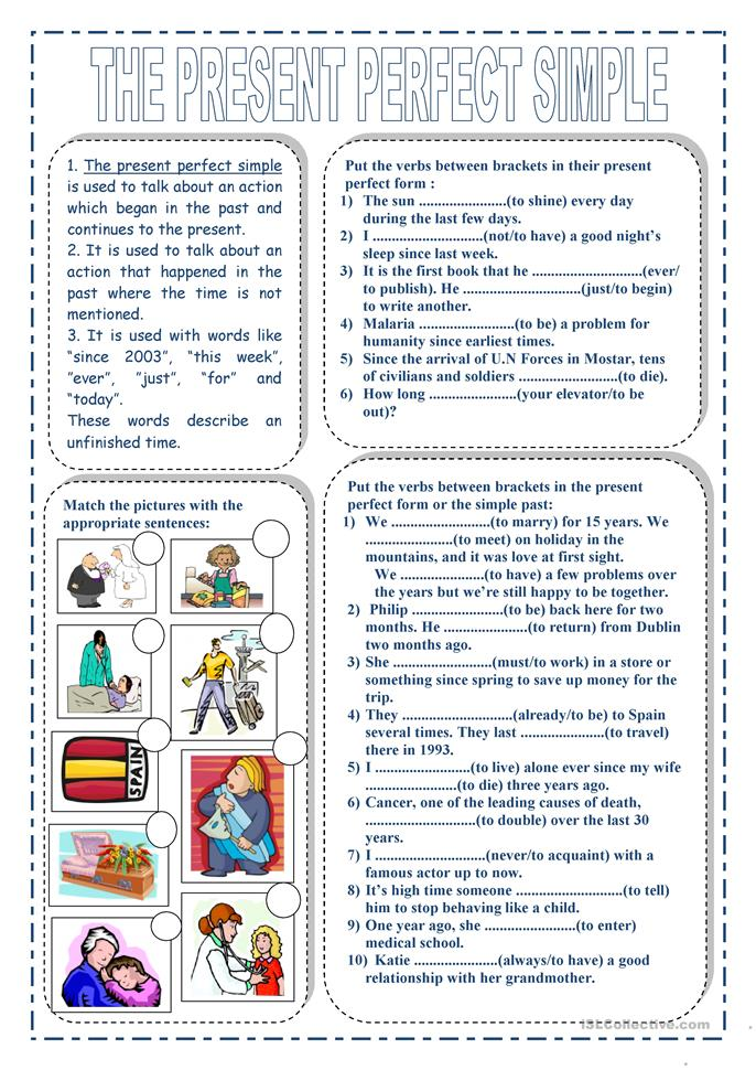 The present perfect simple - ESL worksheets