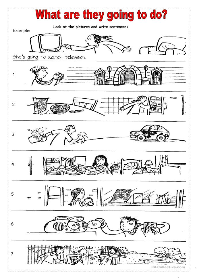 What are they going to do? worksheet - Free ESL printable worksheets ...