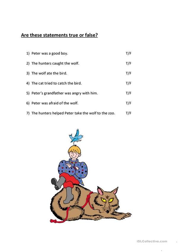 Peter And The Wolf Worksheet Free Esl Printable Worksheets Made By