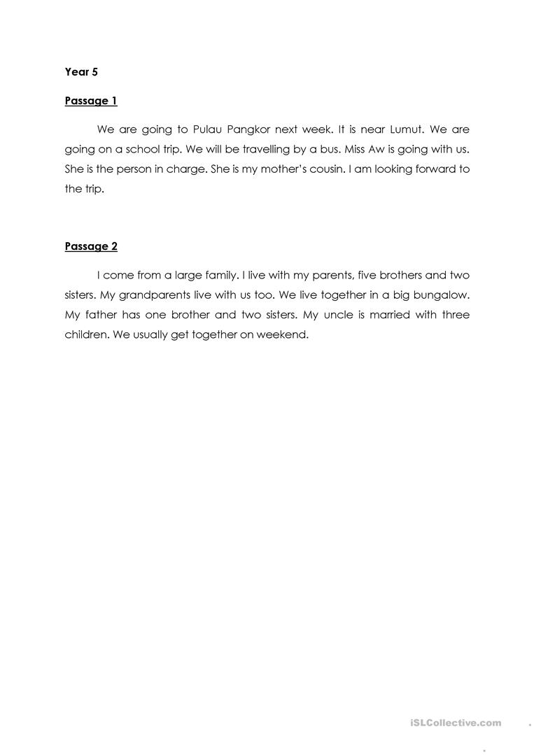- Dictation For Year 1 Primary School - English ESL Worksheets For