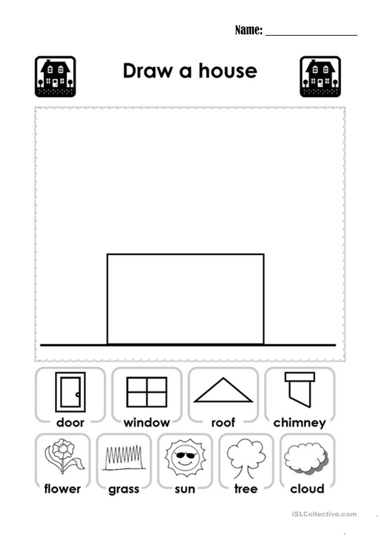 Draw A House English Esl Worksheets For Distance Learning And Physical Classrooms