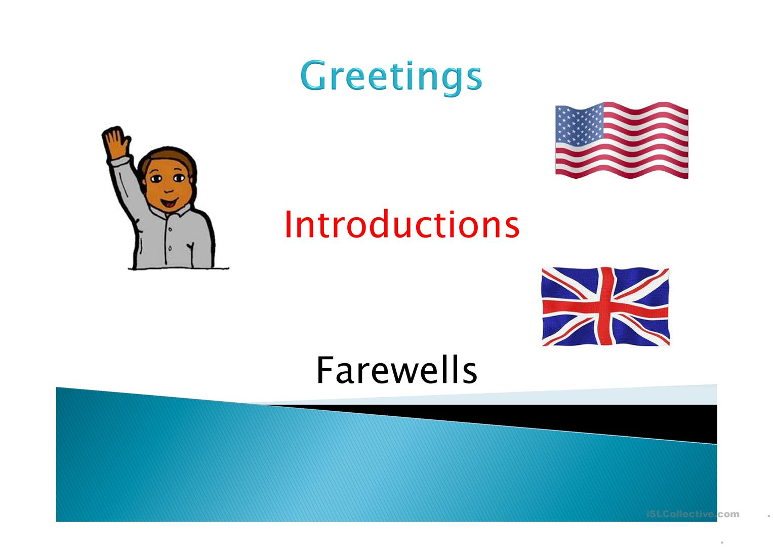 33 free esl greetings powerpoint presentations exercises greetings introductions farewells m4hsunfo