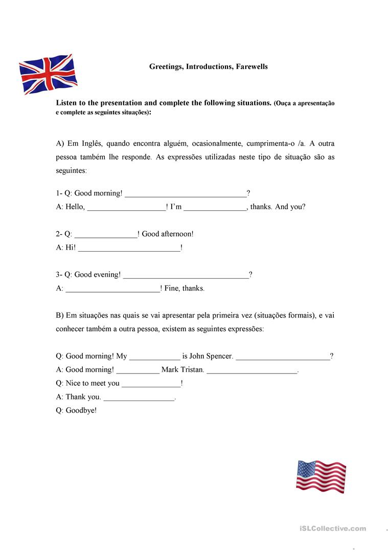 Greetings introductions farewells worksheet free esl printable greetings introductions farewells full screen m4hsunfo