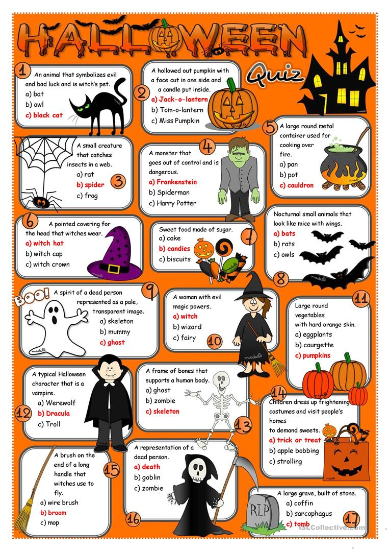 halloween quiz full screen - Halloween Trivia With Answers