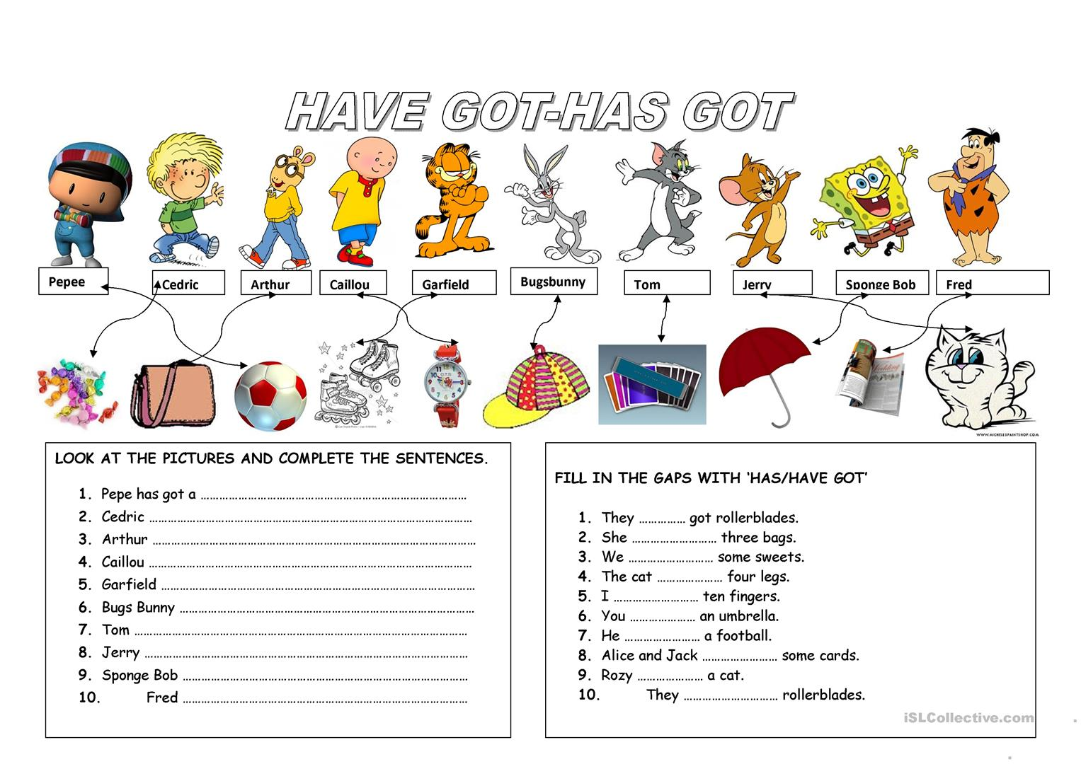 worksheet Has And Have Worksheets 23 free esl havehas worksheets got