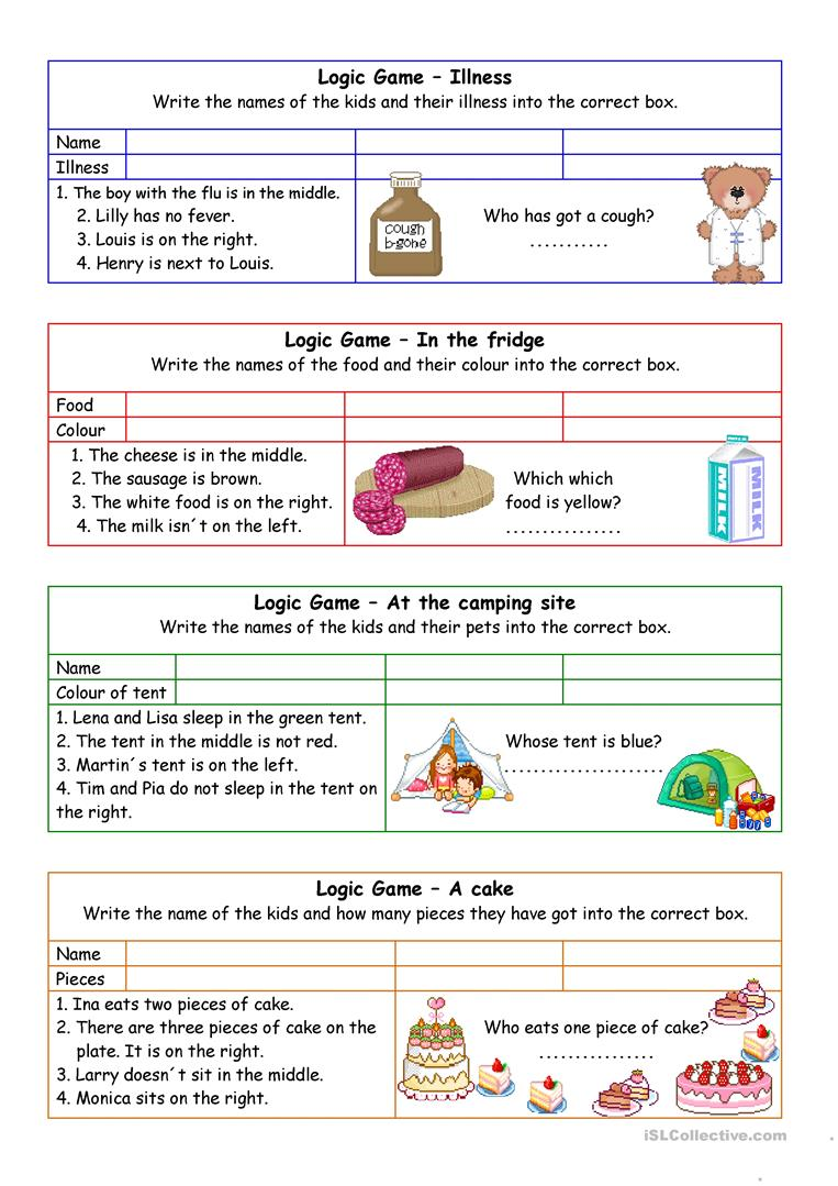 worksheet Library Worksheets 8 free esl in the library worksheets logic games for young learners 02 key
