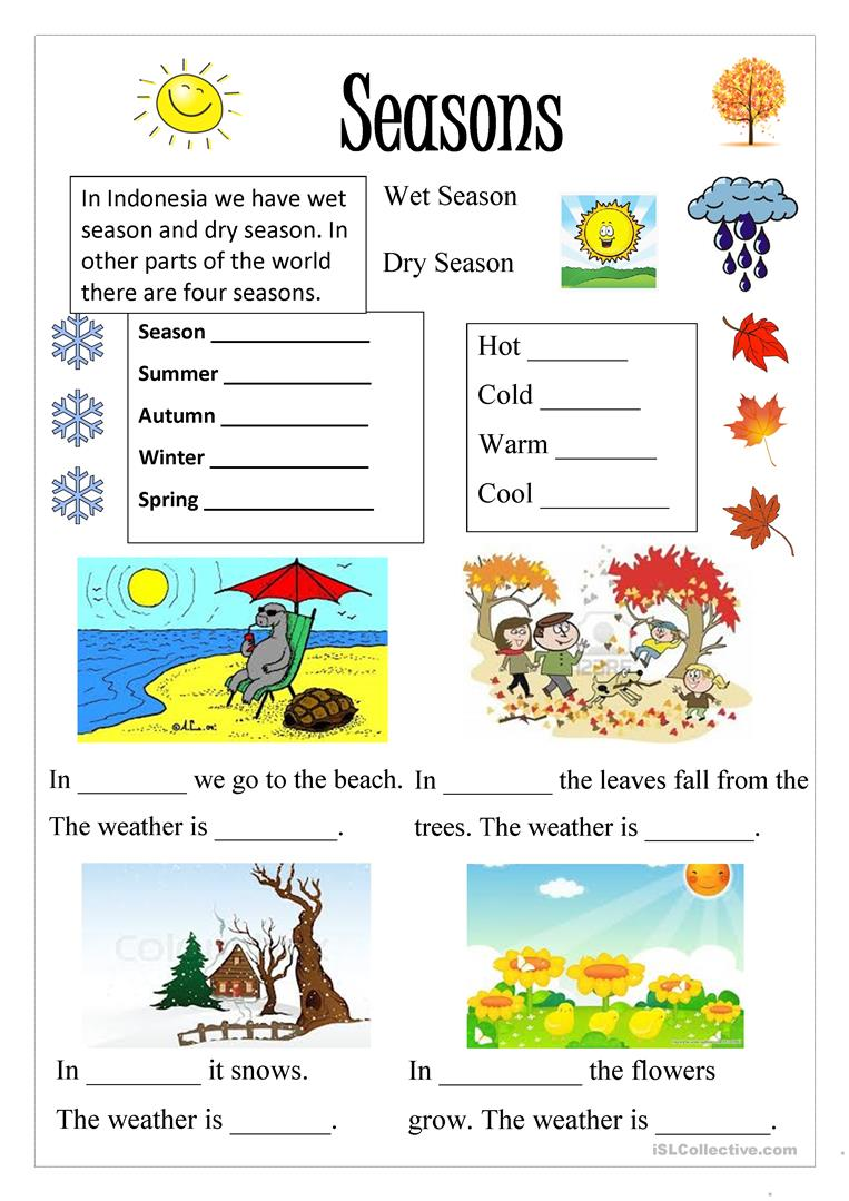 Worksheets Seasons Worksheets 191 free esl seasons worksheets season