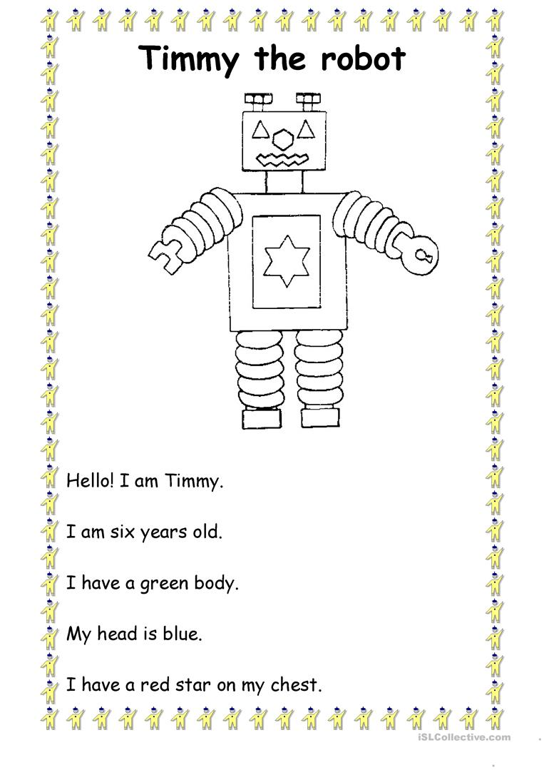 Timmy The Robot English ESL Worksheets