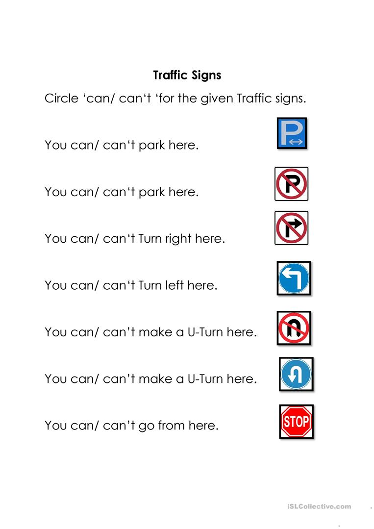 Worksheets Traffic Signs Worksheets traffic signs worksheet free esl printable worksheets made by teachers full screen