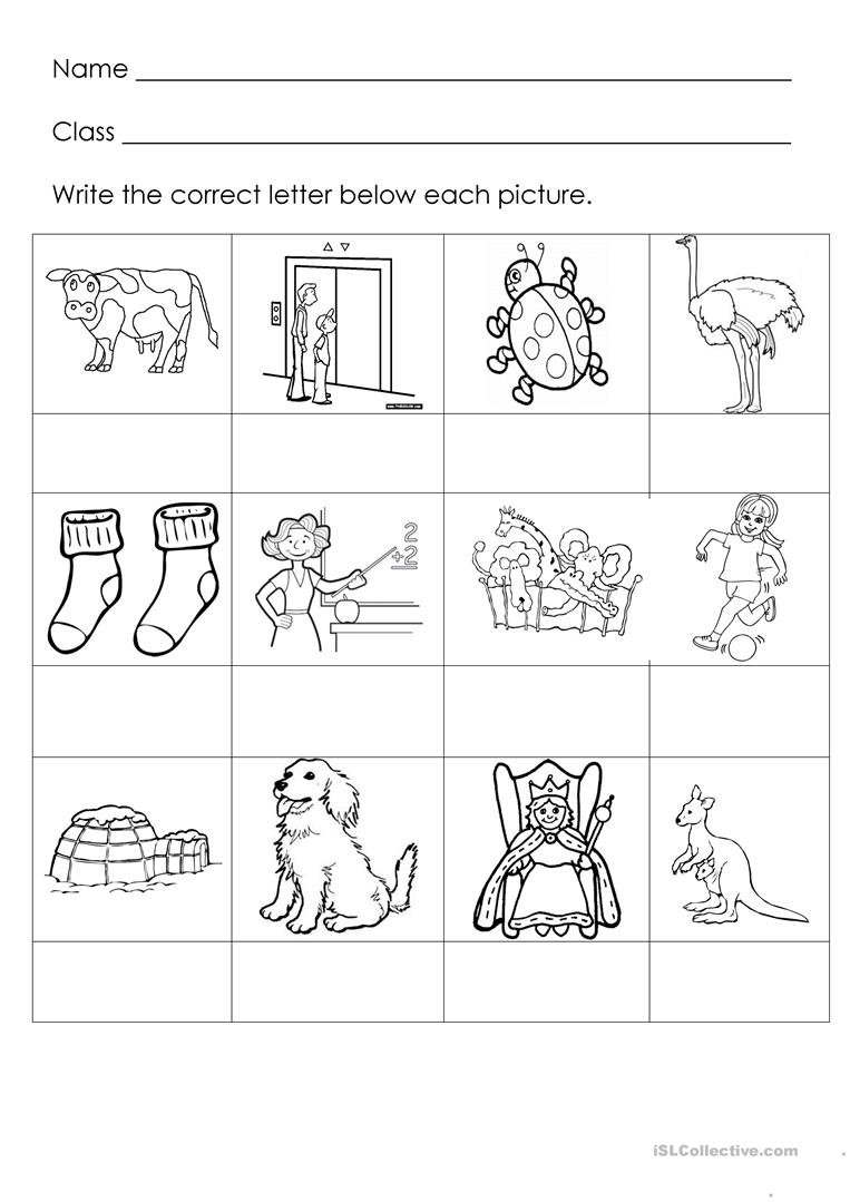9 FREE ESL letter sounds worksheets