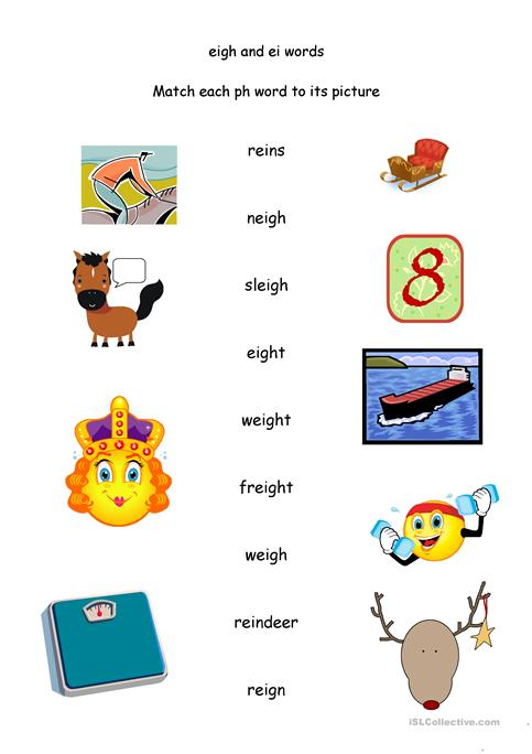 Ei And Eigh To Say Long A Sound Worksheet Free Esl Printable