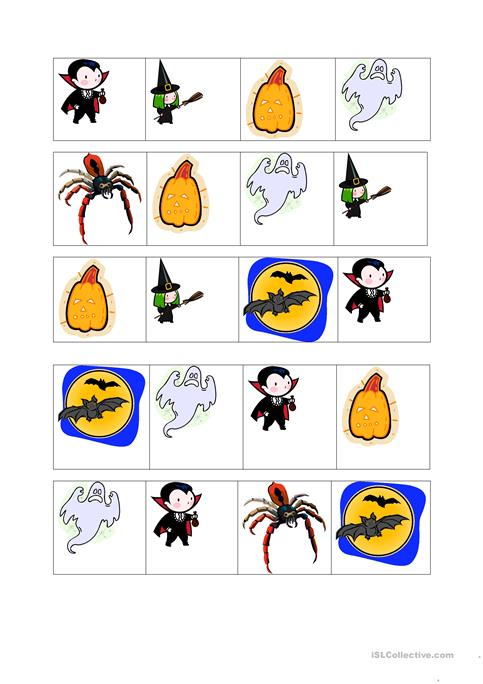 graphic about Halloween Bingo Printable titled Halloween bingo playing cards worksheet - No cost ESL printable