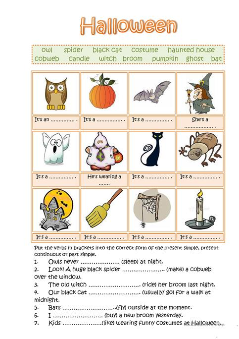 Halloween worksheet - Free ESL printable worksheets made by teachers