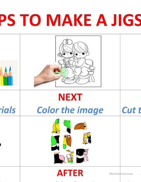 photo about Make a Puzzle From a Picture Printable referred to as How in direction of create a Jigsaw puzzle worksheet - Cost-free ESL printable