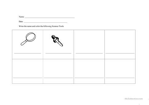 Science Cut Paste Worksheets And Tools. Science. Best Free ...