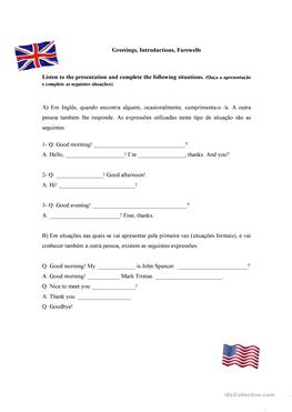 8 free esl greetings farewells worksheets greetings introductions farewells m4hsunfo