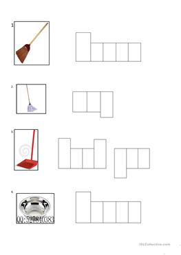 English worksheets: spring cleaning crossword