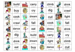 English ESL verbs actions domino worksheets - Most downloaded (2