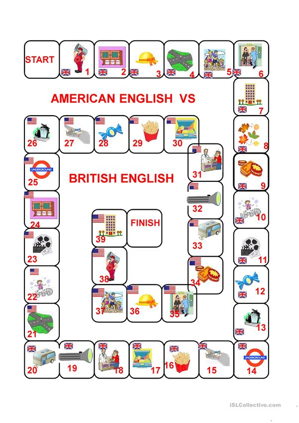 American vs British English Vocabulary