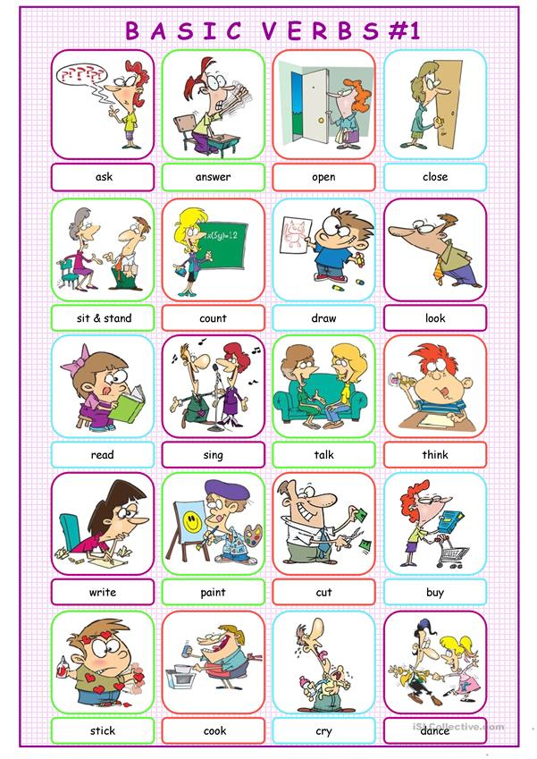 Basic Verbs Picture Dictionary#1