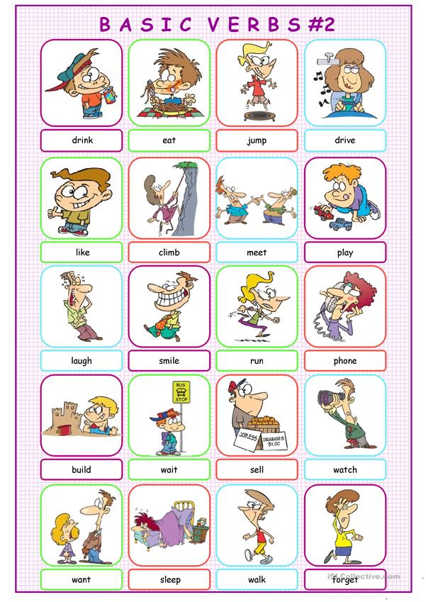 Basic Verbs Picture Dictionary#2