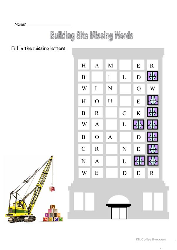 Building Theme Worksheets