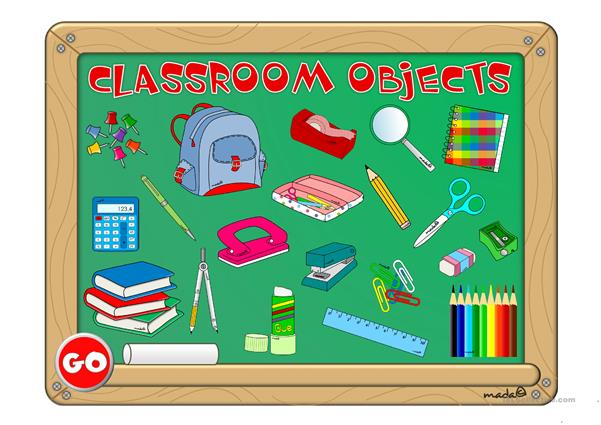 Classroom objects - GAME