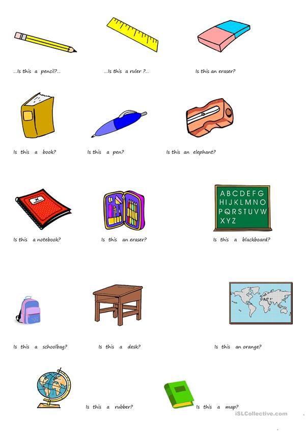 CLASSROOM OBJECTS  IS THIS....