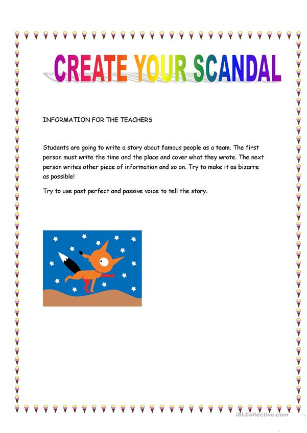 CREATE YOUR SCANDAL