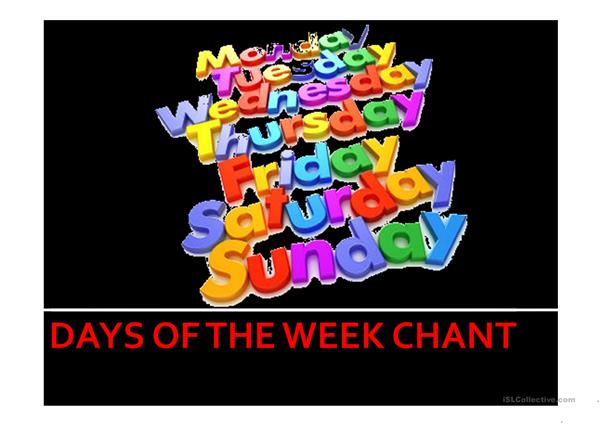 Days of the Week Chant