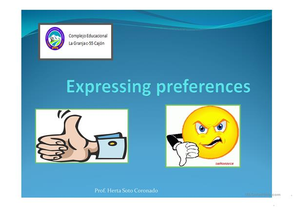 expressing preferences