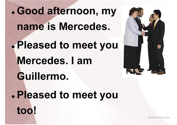 Greetings and Introductions SImple Dialogs