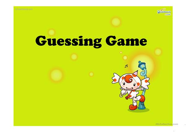Guessing Game PPT
