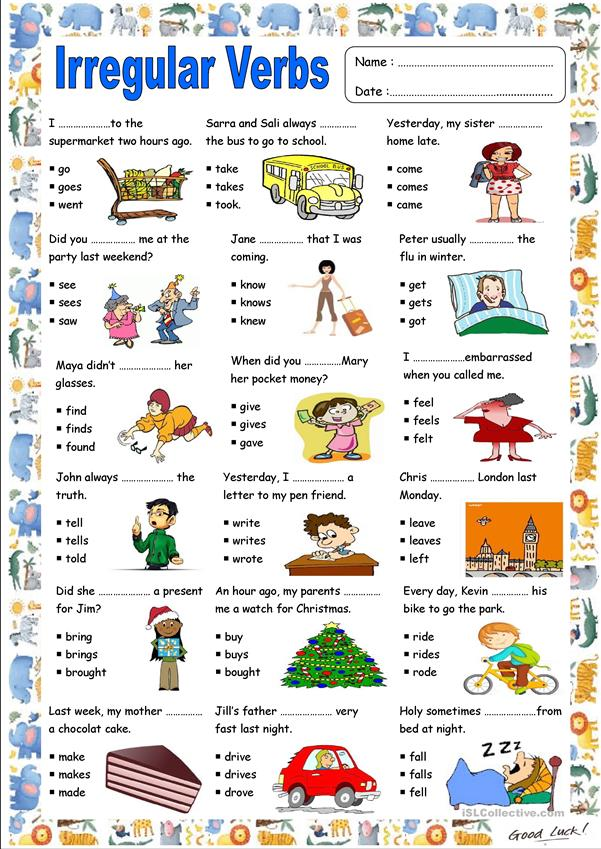 IRREGULAR VERBS (present/past)