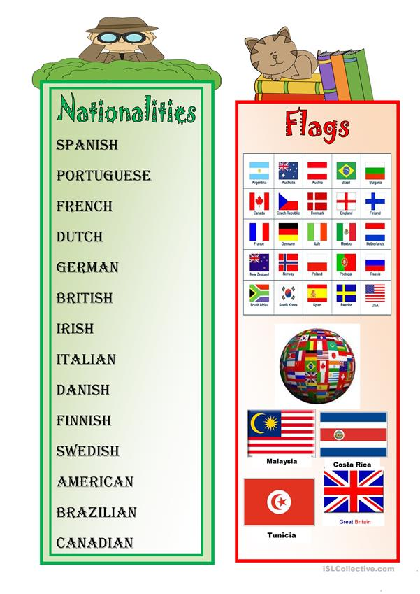 NATIONALITIES AND FLAGS