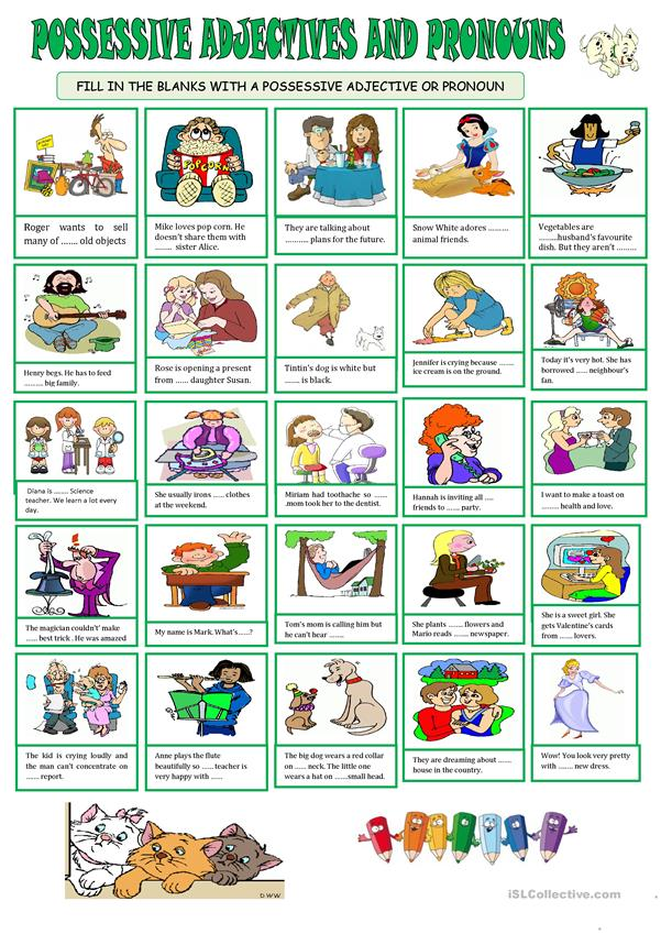 POSSESSIVE ADJECTIVE & PRONOUNS