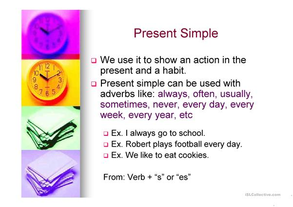present simple and continuous