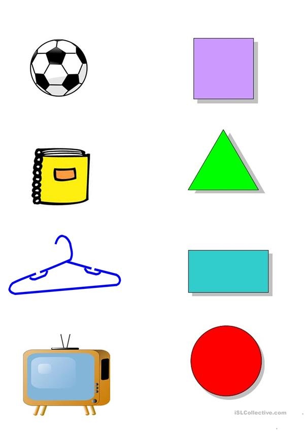 shapes handout for kindergarten
