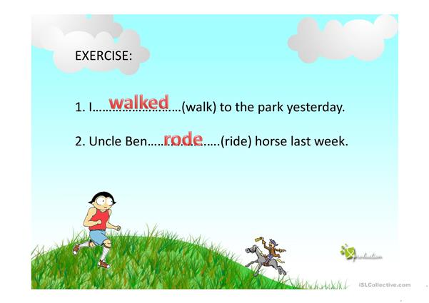 SIMPLE PAST TENSE - exercise