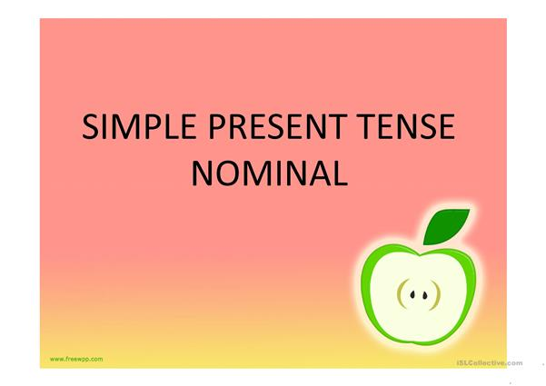 Simple Present tense with to be