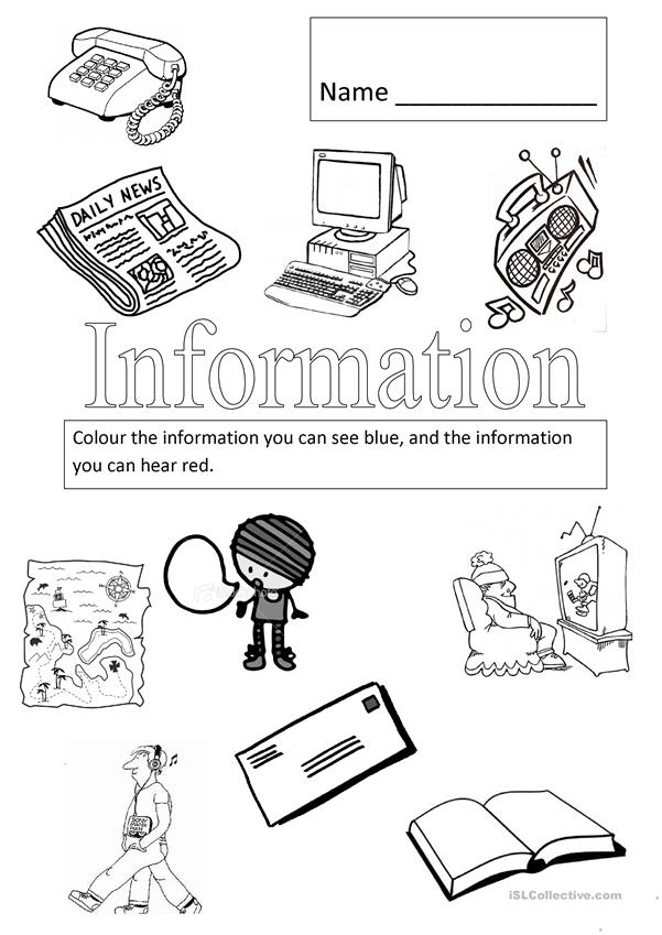 Sources of information we can see and hear